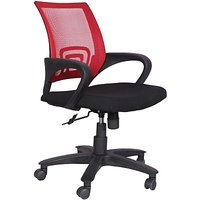 EARTHWOOD Fabric Office Chair         ( Color - Red, Black)