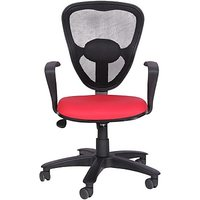 EARTHWOOD Fabric Office Chair         ( Color - Black, Red)