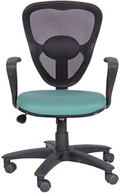 EARTHWOOD Fabric Office Chair         ( Color - Black, Green)