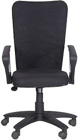 EARTHWOOD Fabric Office Chair         ( Color - Black, Black)