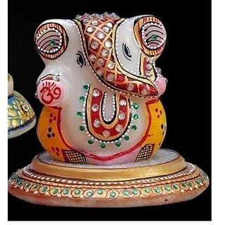 Round Plated Ganesha With Multi Colour