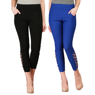 Skyline Black Jeggings Pack Of 2 For Womens
