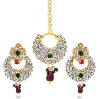 Sukkhi Splendid Gold Plated AD Earring For Women