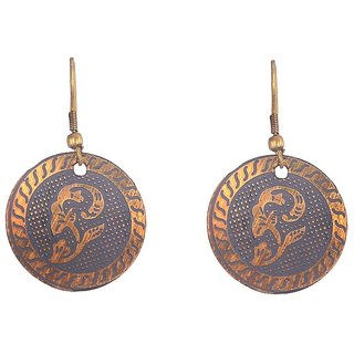 Sheelas Gold color brass earring For women code no491