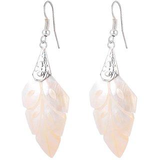 Sheelas white metal color shell earring for women code no504