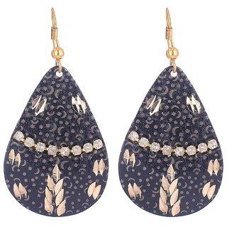 Sheelas Black color brass earring for women code no511