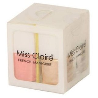 Miss Claire French Manicure Kit (36 ml, Set of 4)+ FREE ONE LIP LINER  SPONGE