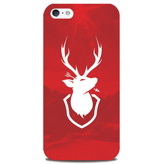 Blu Dew iPhone 5/5S Mobile Cover Deer as a Logo