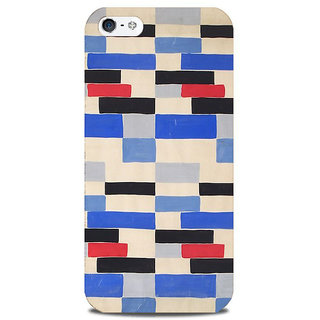 Blu Dew iPhone 5/5S Mobile Cover Blue Red Brick Wall