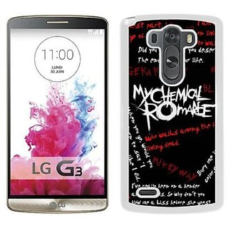 LG G3 My Chemical Romance 1 White Shell Phone Case,Durable Cover
