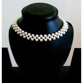 Stylish Handmade Delicate Pearl Collar Choker Necklace Set