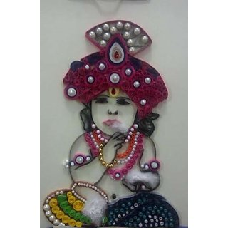 Handmade Quilling krishna With Home Decorative