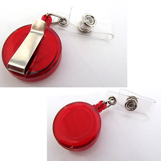 3pcs ID Badge Card Holder Retractable Pulley Chord