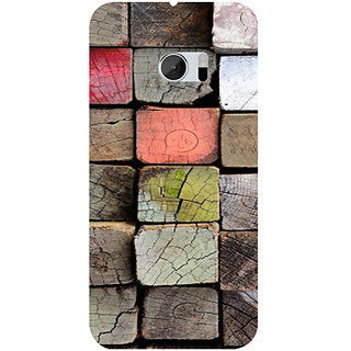 Casotec Wood Lumber Paint Design 3D Hard Back Case Cover for HTC One M10