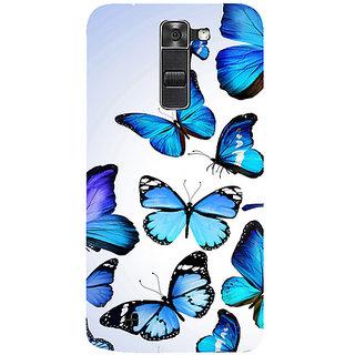 Casotec Flying Butterfly Colorful Design 3D Hard Back Case Cover for LG K10