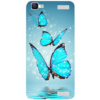 Casotec Flying Butterflies Design 3D Hard Back Case Cover for Vivo V1 Max