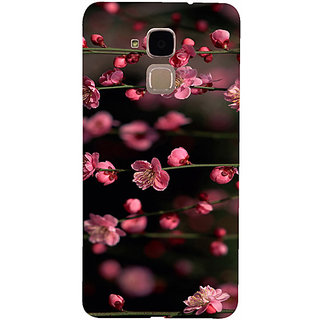 Casotec Pink Flowers Design 3D Hard Back Case Cover for Huawei Honor 5c
