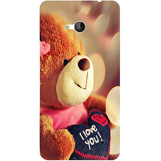 Casotec Teddy Bear Design 3D Hard Back Case Cover for Microsoft Lumia 640