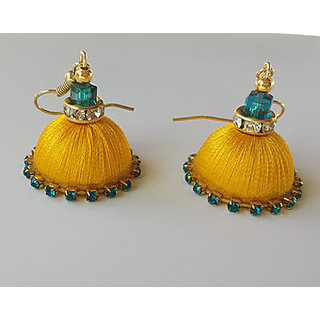 Nitin Handmade Jewellery Yellow Earing