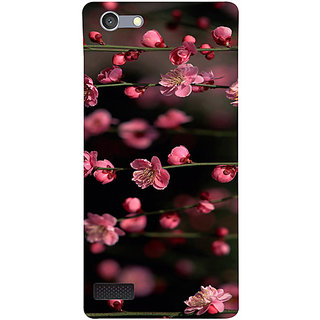 Casotec Pink Flowers Design 3D Hard Back Case Cover for Oppo Neo 7