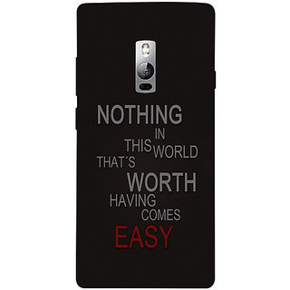 Casotec Life Quotes Design 3D Hard Back Case Cover for OnePlus 2