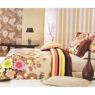Double Bedsheet Border Flowers (3 pc Set)