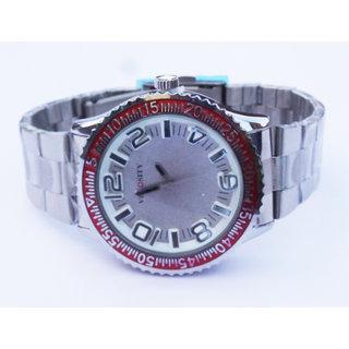 Men's Designer Metal Belt Wrist Watch