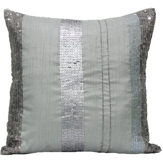 Grey Seqence Cushion Cover  (set of 2)