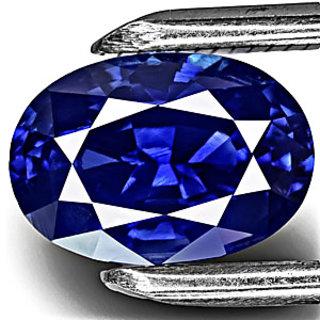 7.25 Ratti   Blue Sapphire (NEELAM ) gemstone  LAB  Certificate