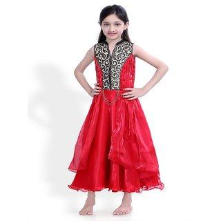 Basil Leaf Self Design Girls Gown - BLGW2051