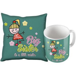 Sky Trends Gifts For Rakshabandan Coffee Mug And Cushion Cover Combo. st-mugcuhraksha006