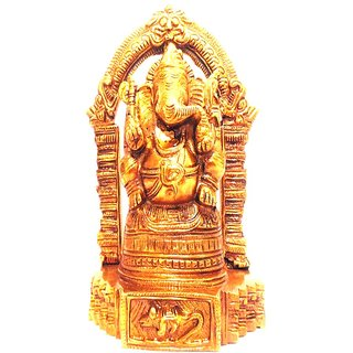 Divine Gods Lord Shree Ganesha brass statue and Idol - 19 cms