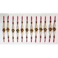 Golden Beads Raksha Bandhan Rakhi Set Of 12
