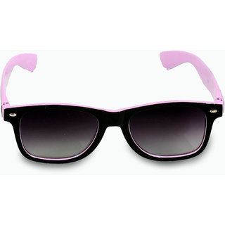 Woman Black  With Pink Sides Wayferer Sunglass