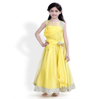 Basil Leaf Self Design Girls Gown - BLGW2062