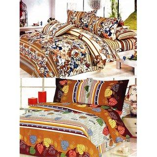 ShopSince Floral Double Bedsheet Set of 2