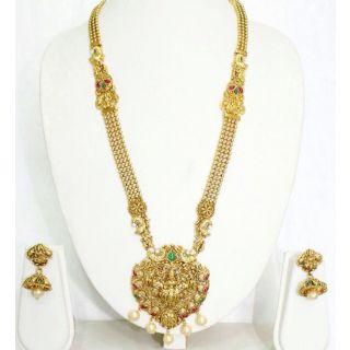 Mohini Traditional Ethnic Bridal Long Necklace Set
