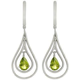 Shine Jewel popular stylish earring with Peridot gemstone 925 silver earring