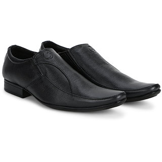 4S Black Leather Mens Formal Shoes