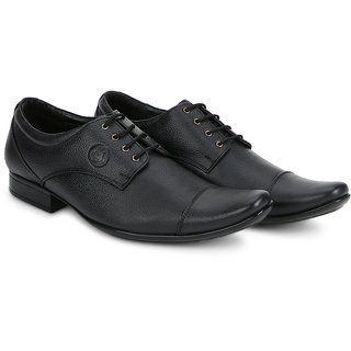 4S Black Leather Formal Shoes