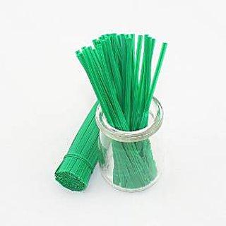 Sago Brothers Brand 500pcs 5 Plastic Green Twist Ties