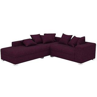 Earthwood - Warner L Shape Sofa Set with Lounger in purple