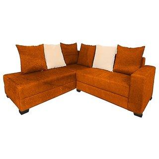 Earthwood -  Berlin L Shape Sofa Set with Lounger in Orange