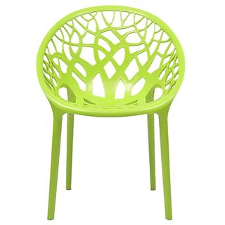 home by Nilkamal Crystal Chair (Lime Green)