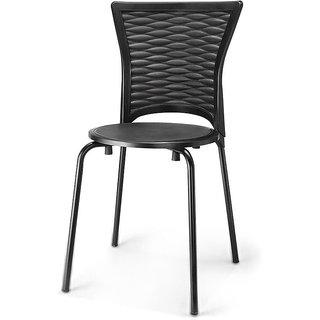 Nilkamal Novella Chair (Italian Black)