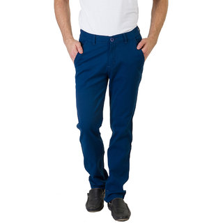 Bloos Jeans Blue Slim Fit Low Rise Mens Chinos