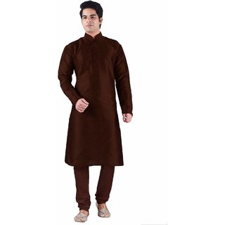 Sanwara Red Long Kurta  Pyjama Sets For Men
