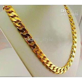 Kamal Jewels Gold Plated Chain Men Tendulkar Design 4mm