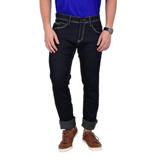 Mokajean Slim Fit Black Mens  Jeans
