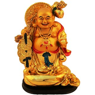Aica feng shui laughing buddha happy man vastu showpeace-4